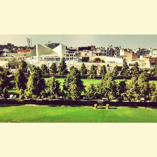 Awesome light sunny day @terraceview Nirankariashram love the view Instasize 👌🌲