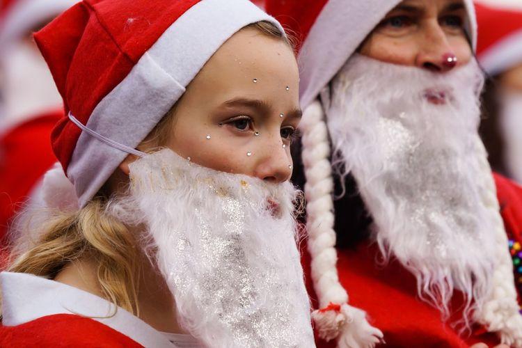 Santas Fun Run Charity Event Weihnachten 2016 Santas Run Für Den Guten Zweck Flensburg Germany Celebration Event Christmas Flensburger Hafen Kids Christmas