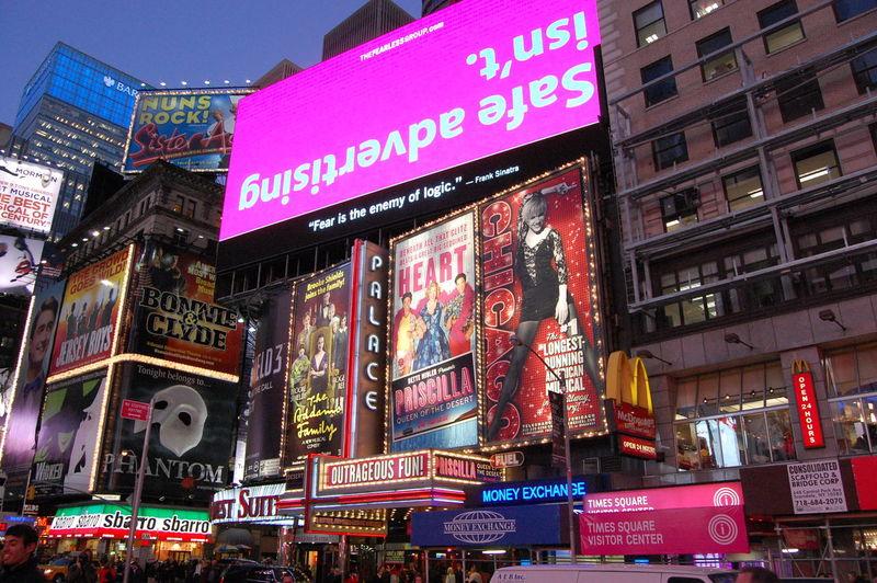 Bright lights, big city Advertisement Architecture Broadway Building Exterior City Life Light Manhattan Neon New York Newyork Night Sign Street Time Square, New York Urban USA