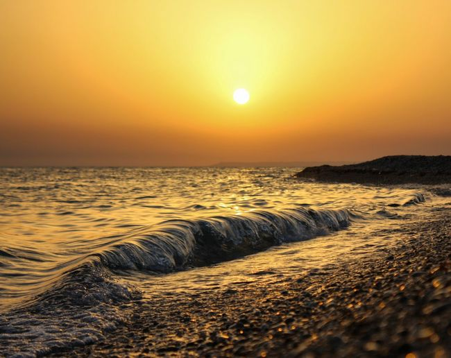 Sunset Horizon Over Water Outdoors Tranquil Scene Beauty In Nature Sky Landscape Beach Sand Tranquility Nature Vacations Scenics No People Water Sunlight Wave Mediterranean  Sicily Sunlight Nature Breathing Space The Week On EyeEm Perspectives On Nature