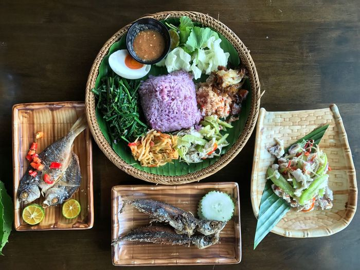 At the local restaurant. High Angle View Table Healthy Eating Close-up Vegetable Food Ready-to-eat Local Delicacies SabahanFood Sabah Borneo Local Food My World Of Food Sabah Below The Wind Food Stories