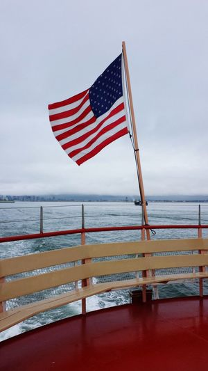 'Merica Wooden Shore Stars And Stripes Boat Ferry Ship Railing Ocean Water Sea Red Patriotism Winter Flag Beach Waving National Icon Flag Pole American Flag National Flag Fluttering Navy