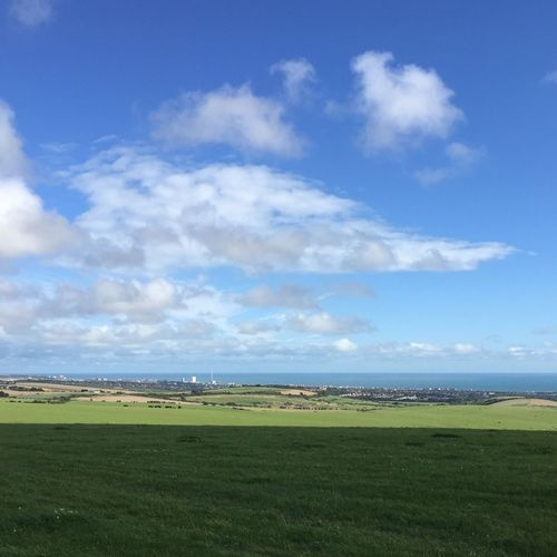 Sunshine and blue skies....remember that? Sunshine Clouds Devilsdyke Southdowns I360