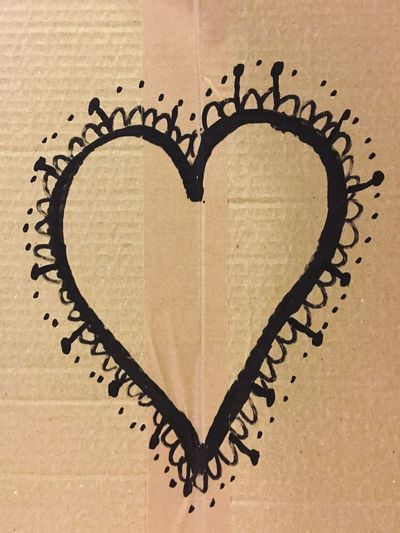 cardboard, draw, heart, black Design, Paper Design