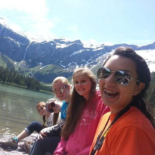 Had an awesome time in Montana with these girls! Iwasoutnumbered Montana Missiontrip WCW glacier