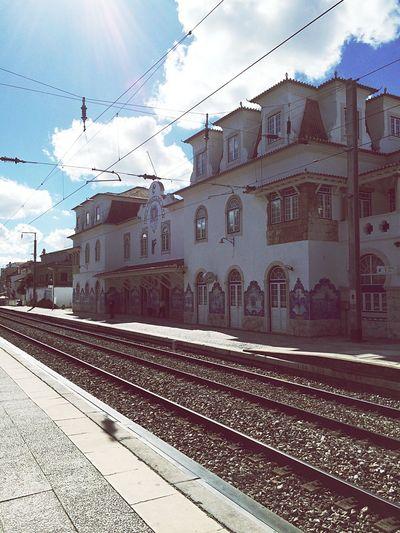 Portugal Train Station Azulejos Azul EyeEm Best Shots Urban Architecture Building Sunny Day