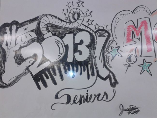 I Drew Dis On My Teacher Board#For Ask My 013 Seniors#Its Our Time#130$$ $hxt#