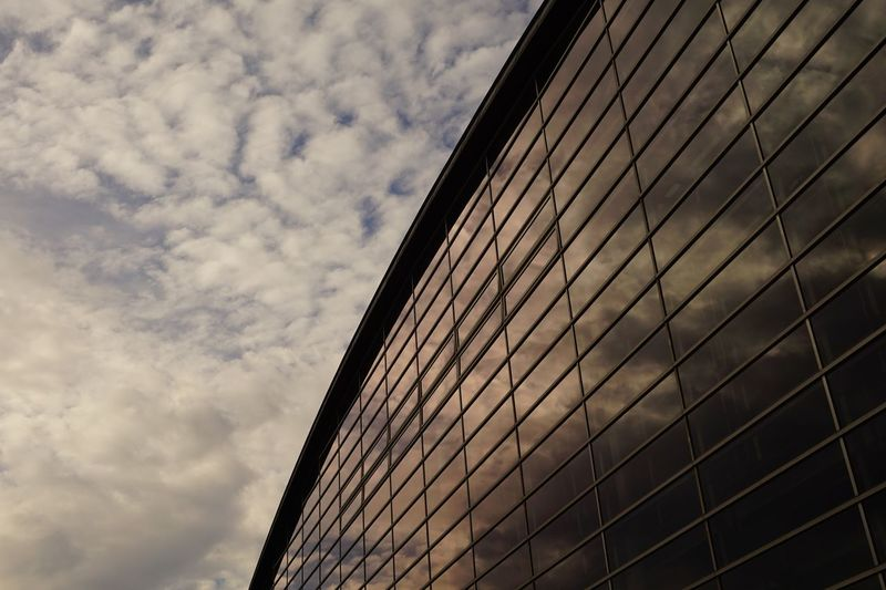 Urban Geometry Low Angle View Cloud - Sky Sky Architecture Building Exterior Built Structure No People Nature Building