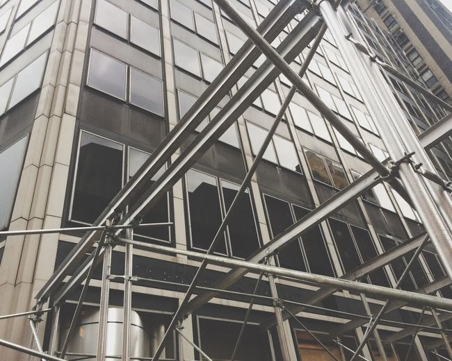 NYC New York Fassade Metal Construction Architecture Diagonals Low Angle Abstract