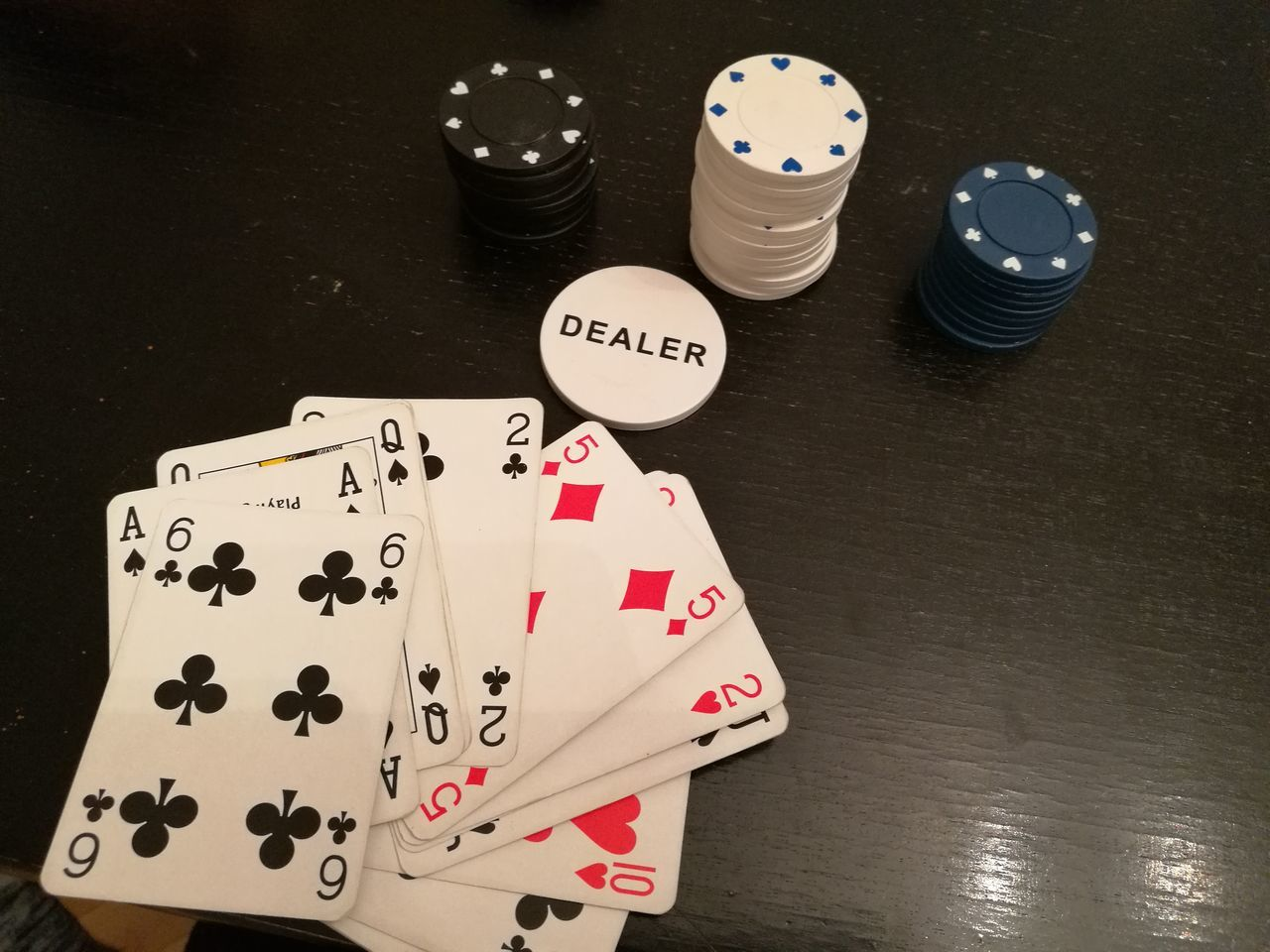gambling, luck, cards, table, chance, high angle view, indoors, no people, poker - card game, gambling chip, leisure games, close-up, dice, day