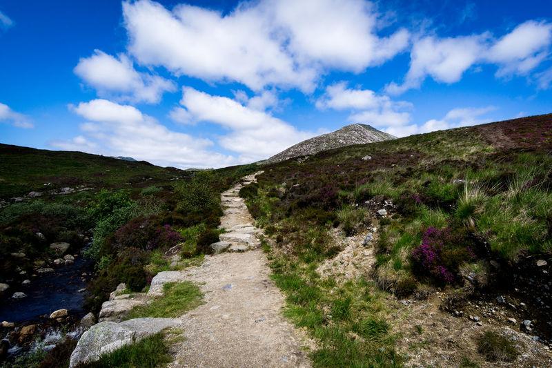 Colour Goatfell  Hiking Mountain Road Scotland
