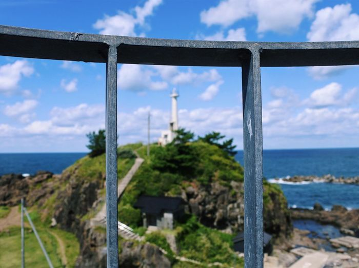 Sea Sky Water Cloud - Sky Nature Scenics Day Horizon Over Water Beauty In Nature Tranquil Scene Tranquility Outdoors No People Beach Tree Bridge - Man Made Structure Plant Architecture Nikon Lighthouse Japan VSCO Vscocam Fence