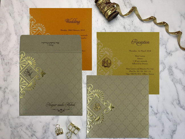 Pick this perfect design of Islamic Wedding Cards with latest and finest pattern. The fascinating wedding invitation designs and shimmer paper artwork is a result of handwork and commitment of our skilled designers and manufacturers. The beautiful shades of khaki color have been conferred on the wedding card to attract your guests. Shop at https://www.indianweddingcards.com/card-detail/CI-1791 For more Muslim invites: https://www.indianweddingcards.com/muslim-wedding-invitations Islamic Invitations Islamic Wedding Cards Islamic Wedding Invitations Muslim Invitations Muslim Cards Muslim Wedding Cards Wedding Cards Muslim Wedding Invitations, Wedding Invitations