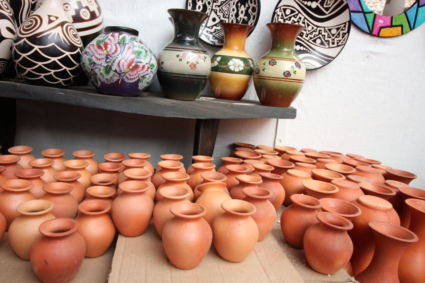 Crafts Market Abundance Arrangement Art Art And Craft Ceramic Ceramic Art Ceramic Art Craft Ceramics Choice Clay Clay Art Clay Work Collection Earthenware For Sale Handmade Large Group Of Objects Pottery Raquira Retail  Shelf Small Business Variation