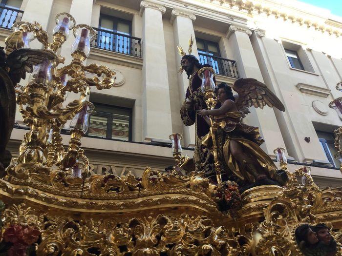 Cautivo de un barrio Sevilla Spain Semana Santa A La Gloria Cristo Cautivo Tunica Paso Costaleros EyeEmNewHere City Statue Sculpture Holiday - Event Celebration Architecture Human Representation Sculpted Jesus Christ Figurine  Idol