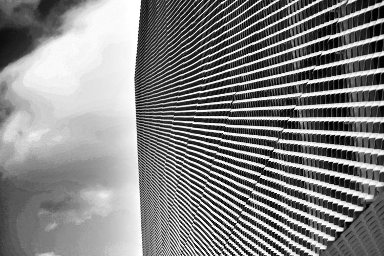 Modern Architecture and sky in a Graphic composition in Black And White