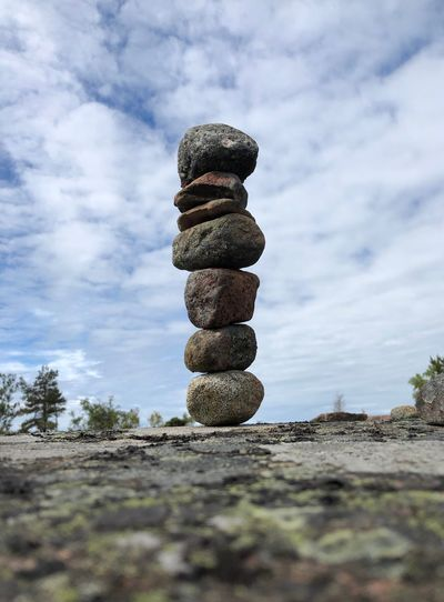 Balance Stone Stones Aland Islands åland  Focus Serenity Zen Balancing Rocks Balancing Act Balanced Stone Art Stones Stack Balance Sky Cloud - Sky Land Nature Day No People Stone - Object Tranquility Rock Beauty In Nature Outdoors Close-up Selective Focus