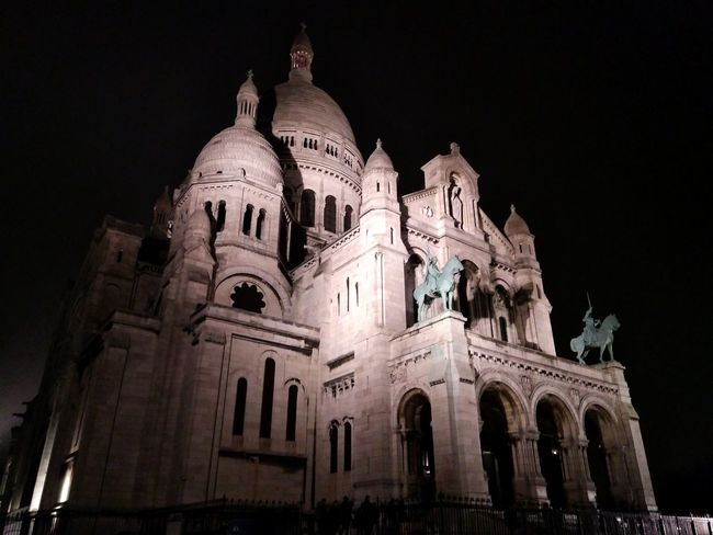 Night Spirituality Travel Destinations No People Architecture Dome Outdoors Montmartre
