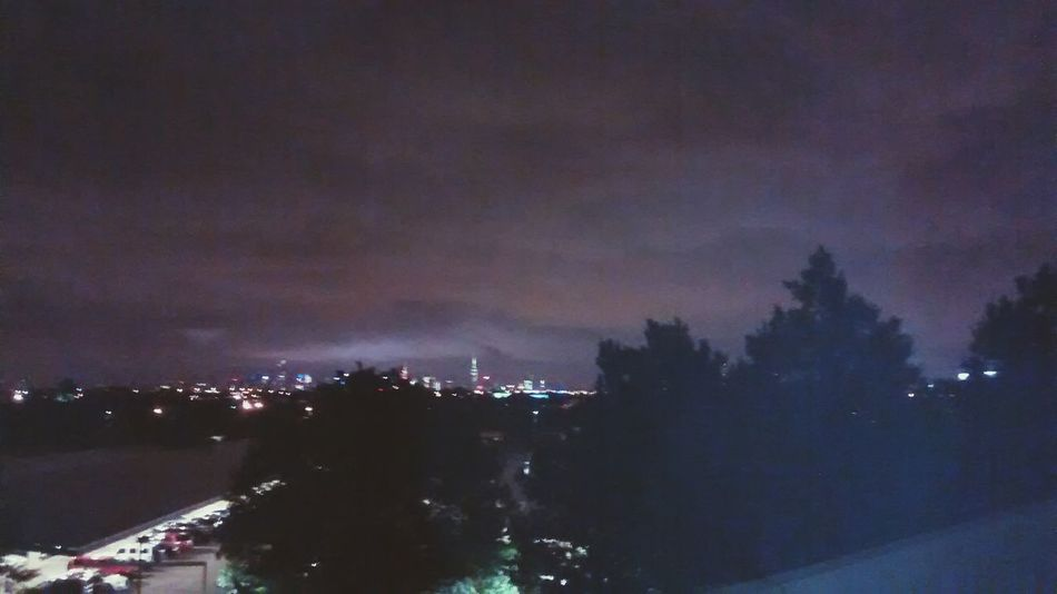 Glitch city lights from a far