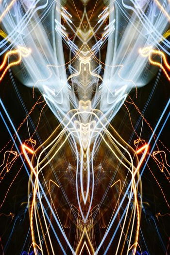 THE ALIEN QUEEN. Symmetry Illuminated No People Backgrounds Light Streaks Abstract Nawfal Johnson Technology Long Exposure Light Trail Night Photography Alien Queen