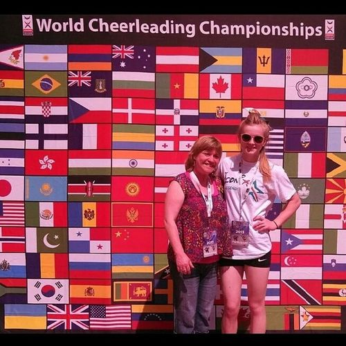 Throwback Thursday to Worlds2013 with my sweet momma who drove through the night to get me there!