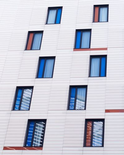 Architecture Bermondsey Building Exterior Built Structure Colorful Colours Day Hotel London London Architecture Looking Up Low Angle View Minimal Minimalism Modern Architecture Modern Building No People Outdoors Pattern Southwark  The Architect - 2017 EyeEm Awards Window Windows