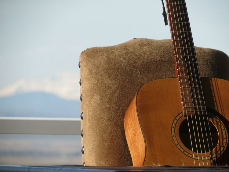 Guitar Musical Instrument Music No People Sky Close-up EyeEmNewHere Guitar Love Tranquil Scene The Week On Eyem Mood Photography Happy Quiet Moment Canada Musical Instruments Strings Art Is Everywhere