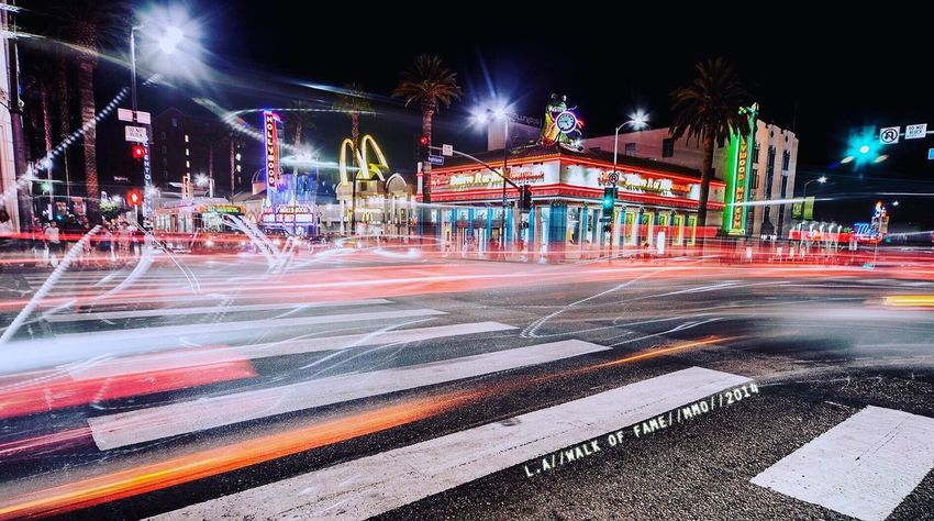 Lost Angels Walk of fame Losangeles California USA Walkoffame Long Exposure Canon Canonphotography Mark2 5d Messkymo Photographer Videomaker Girl French Traveller Streetphotography Night Night Lights Longexposure Art