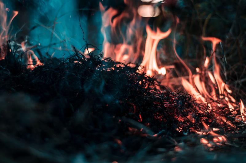 fire. Burning
