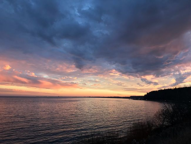 Sunset Tranquil Scene Scenics Water Beauty In Nature Tranquility Sea Sky Cloud - Sky Nature Idyllic No People Horizon Over Water Outdoors Day