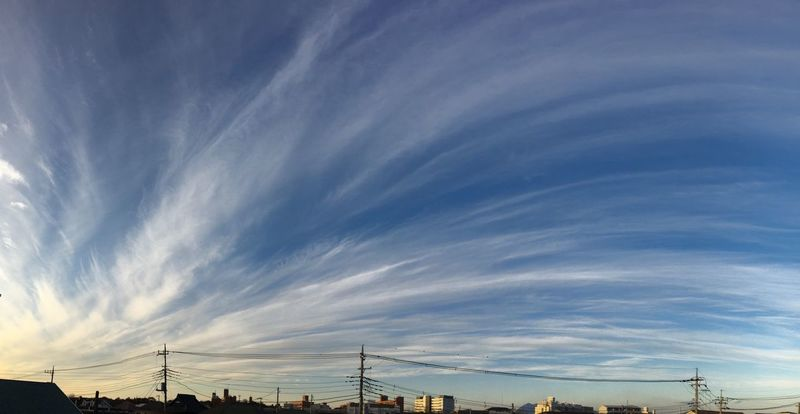Beautiful twilight !! 😄空が綺麗〜✨ Sky Cloud - Sky Cloudscape Blue Blue Sky White Evening Twilight Nofilter 空 雲 パノラマ撮影 Panorama 青