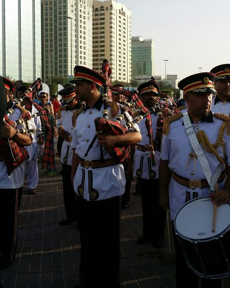 Uae,abudhabi Etihadairways 3rd Annual Charity Event Run For A Cause Police Music Band Outdoor Photography