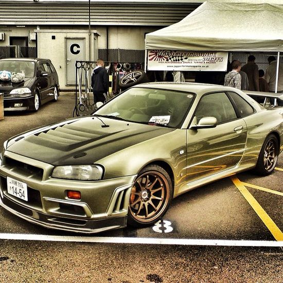 Nissan GTR Japancar Drifting silverstone england ukinstagram instadaily snapseed goldjapansumopower