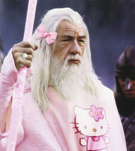 Gandalf The Gay Gandalf Pink Hellokitty Sparkles Heart Ring Pinkstaff