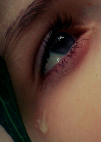 Tears For The Damned My Little Sister  Out In The Wilderness Leaf Teardrop Blue Eyes