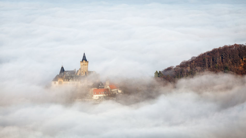 Architecture Building Exterior Sky Built Structure Nature Cloud - Sky Building Day No People Tower Religion Tree Travel Destinations History Outdoors Place Of Worship Scenics - Nature Beauty In Nature Spire  Wernigerode Harz Harzmountains