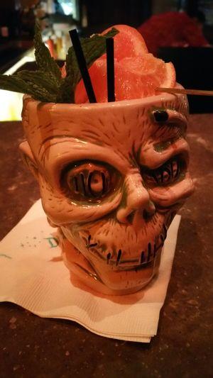 Zombie Shrunken Head Rum Downtown Disney Trader Sam's Anaheim AWESOME