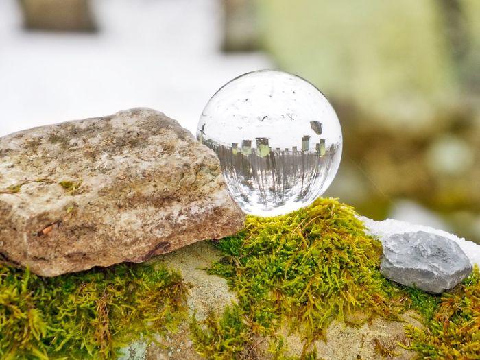 Gräber im Kristall Gravestone Grave Grabstein Gräber Grab Cementery Friedhof Sphere Rock No People Glass - Material Nature Transparent Outdoors