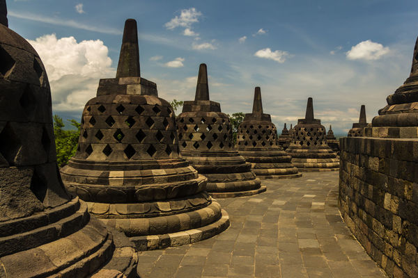 Borobudur Temple UNESCO World Heritage Site Ancient Ancient Civilization Architecture Borobudur Budism Building Exterior Built Structure Cloud - Sky Day History Nature No People Old Ruin Outdoors Place Of Worship Religion Sky Spirituality Stone Material Tourism Travel Travel Destinations