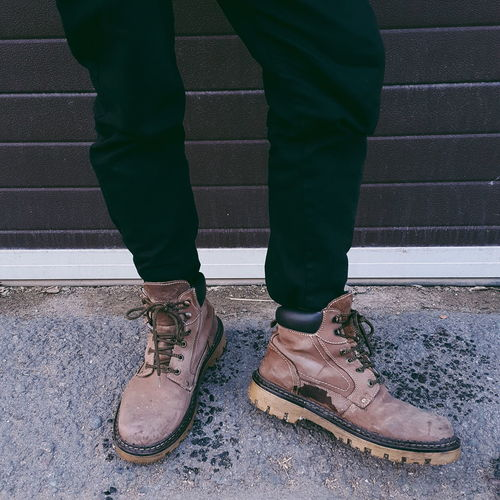 if the shoe fits Winter Winter Shoes Timberland Boots Cold Outfit Winter Outfit  One Man Only One Person Only Men Standing Low Section Shoe Day Outdoors Human Body Part Adult People Men