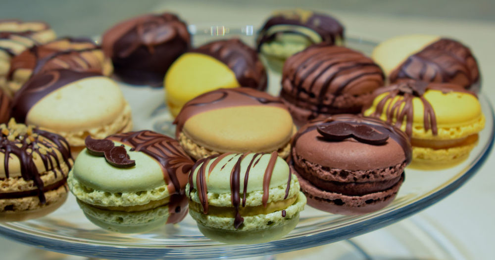 One a day, keep the doctor away Macaroons Baked Cake Chocolate Close-up Dessert Focus On Foreground Food Food And Drink Freshness Indoors  Indulgence Macaroon No People Ready-to-eat Snack Still Life Sweet Sweet Food Table Temptation Tray Unhealthy Eating