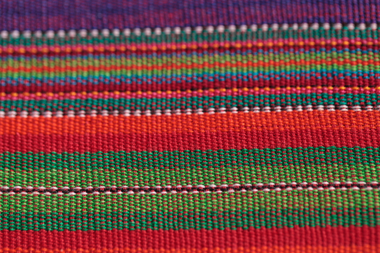 backgrounds, multi colored, pattern, textured, full frame, textile, red, no people, close-up, indoors, day