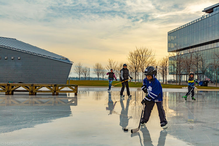 Ice Rink Ice Hockey Ice Skating Portrait Composition, Dramatic Sky Sport Photography Lovers Urban Landscape Streetphotography Urban Toronto Canada Streetphotography Urbanphotography Photography Photographer Art Reflection Hockey Here Belongs To Me