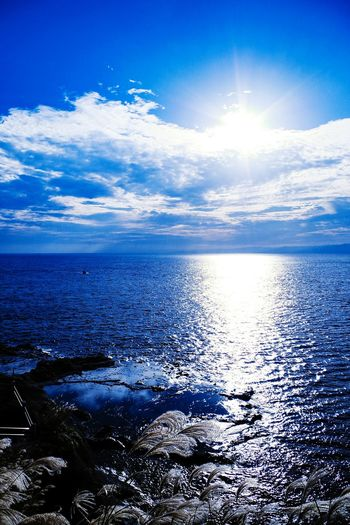 Perspectives On Nature Sea Water Beach Nature Blue Scenics Beauty In Nature No People Outdoors Horizon Over Water Sky Tranquility Sunlight Cloud - Sky Day Close-up UnderSea