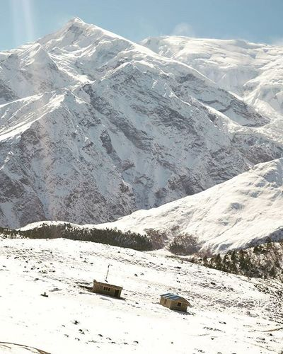 हिमाल को काख मा बसेको घर 😁😁 Manang Annapurnacircuit Travel Nepal Nepal8thwonder