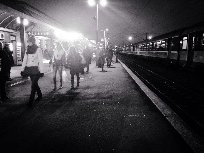 Moments Public Transportation Taking Photos Black & White