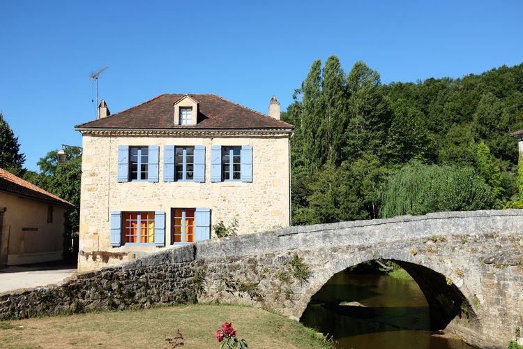 The House and the bridge Houses And Windows Bridge Village French Village France Dordogne Building Exterior House Architecture Built Structure No People