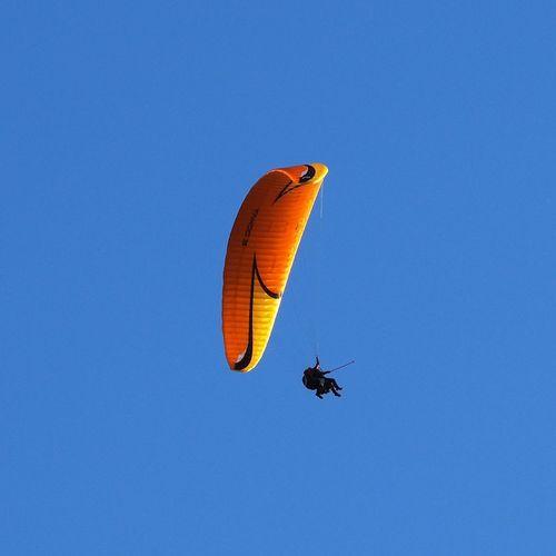 Tandem paragliding above EFHV Hyvinkää airfield. Clear Sky Extreme Sports Flying Hyvinkää Paragliding Learn & Shoot: Simplicity