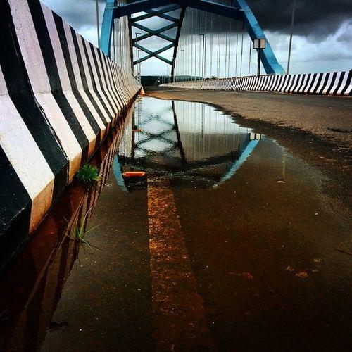 Mdclicks Calvim Bridge Goa india world earth picoftheday reflection blue picoftheday photo water beautifull road goan googlecamera nexus5 nexus5clicks netgeo ngma2014 ngma landscape insta