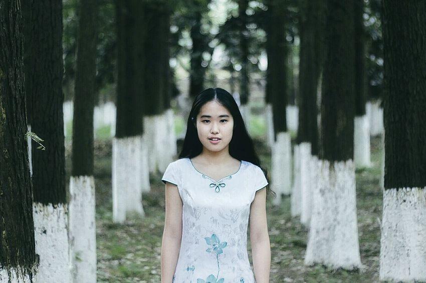 I LOVE PHOTOGRAPHY Beautiful Photography Changsha Changsha,China China Chinese Girl College Girl  Beautiful Girl Beautiful Woman Trees 美女 女生